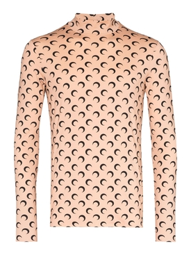 Second Skin Long Sleeve Moon Top TAN/BLACK