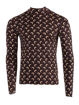Second Skin Long Sleeve Moon Top BROWN/TAN