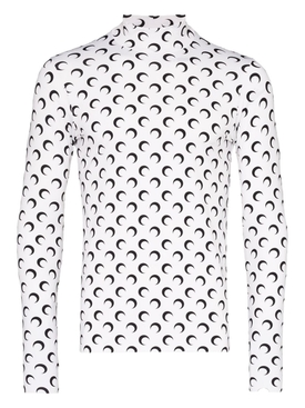 Second Skin Long Sleeve Moon Top WHITE/BLACK