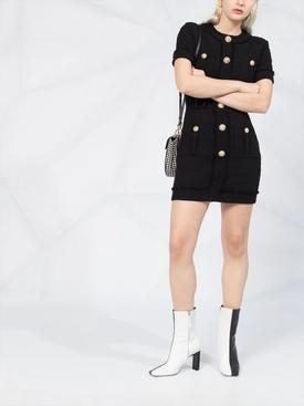 Black tweed mini dress