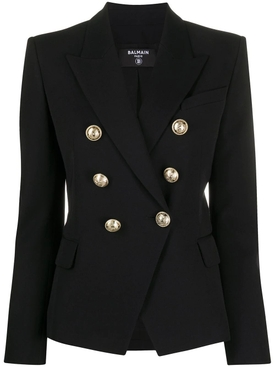 Balmain - Classic Double-breasted Blazer Black - Women