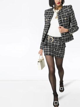 Structured tweed blazer
