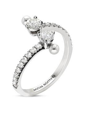 18K WHITE GOLD TWO IN ONE DIAMOND RING