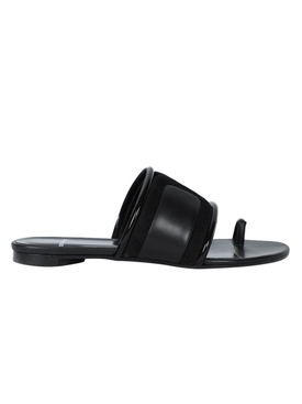 Black mini targa mule sandals