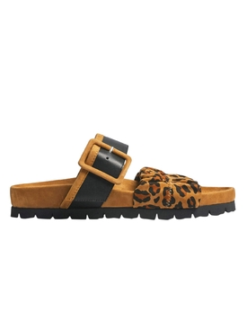 Leopard Print Alpha Mare Mule Sandals