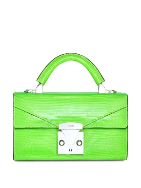 2.0 Mini Top Handle Lizard Bag Neon Green
