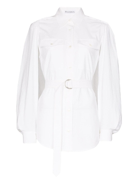 White Trench Top Blouse