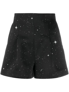 Star Print Satin Shorts