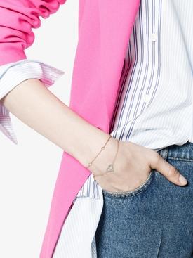 Turquoise heart charm bracelet