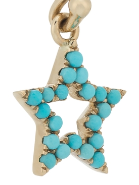 TURQUOISE STAR HANGING EARRINGS PAIR