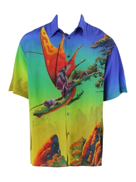 Valentino - Multicolored Dragon Print Button-down Shirt - Men