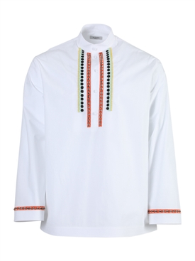 Valentino - White Embroidered Long-sleeve Shirt - Men