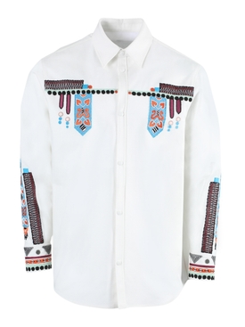 Valentino - White Multicolored Embroidered Button-down Shirt - Men