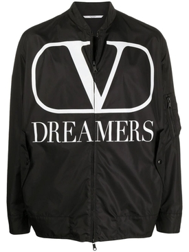 Valentino - Black And White Dreamers Logo Jacket - Men