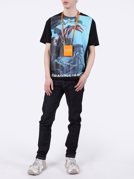 Dragon Garden Graphic Print T-Shirt BLUE