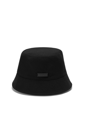 LOGO MONOGRAM DOUBLE-SIDE BUCKET HAT BLACK