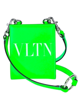 Valentino - Leather Neck Wallet Neon Green - Men