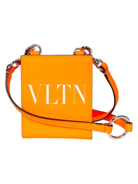 Valentino - Leather Neck Wallet Orange - Men