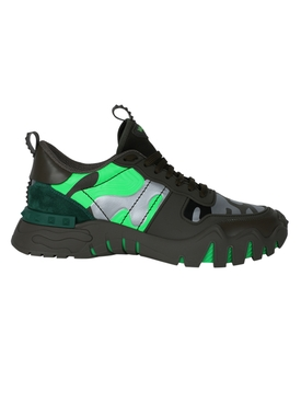Valentino - Camo Rock Runner Sneakers Green - Men