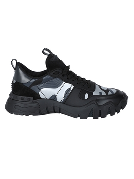 Valentino - Camo Rock Runner Sneakers Black - Men