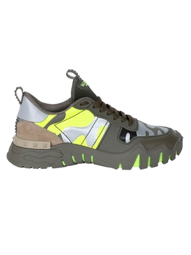 Camo Rock runner Sneakers YELLOW