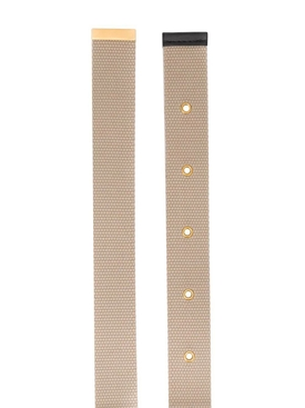 Gold tone v-logo belt NEUTRAL
