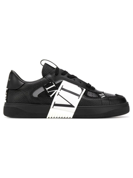 Contrasting low-top logo sneaker BLACK