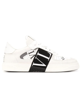 Contrasting low-top logo sneaker WHITE BLACK