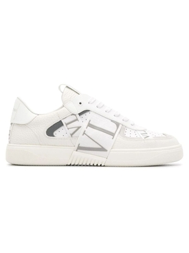 Contrasting low-top logo sneaker WHITE/GREY