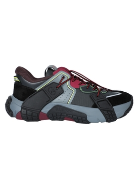 Multicolored color-block sneakers BLACK/RED/GREY