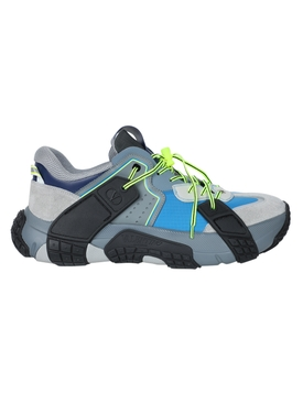 Multicolored color-block sneakers BLUE/BLACK/GREY