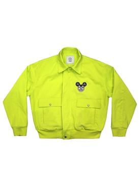 Mischief Bomber Jacket Neon Yellow