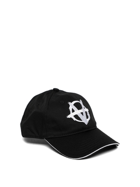 ANARCHY LOGO CAP BLACK AND WHITE