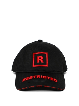 18+ RESTRICTED CAP BLACK AND RED