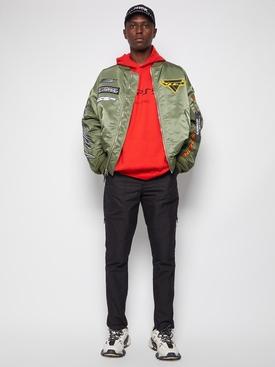Racing logo bomber jacket green