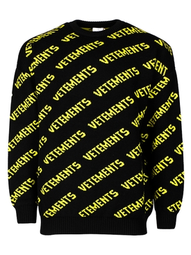 ALL-OVER LOGO BLACK AND NEON YELLOW