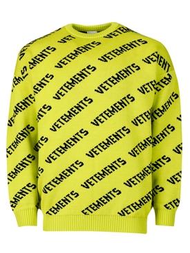 Diagonal monogram knit jumper