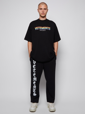 Think Globally Rainbow Logo T-shirt Black
