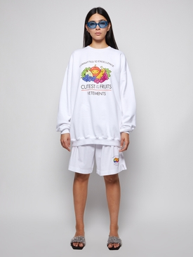 CUTEST OF THE FRUITS LOGO SHORTS WHITE