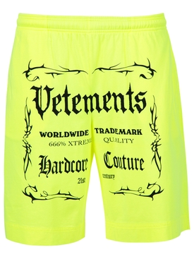 Black Label Logo Shorts Neon Yellow