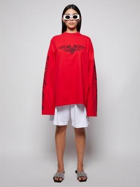 Gothic logo long-sleeve t-shirt red