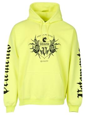 Black Label Hoodie Neon Yellow