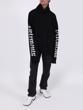 Gothic logo turtleneck sweater