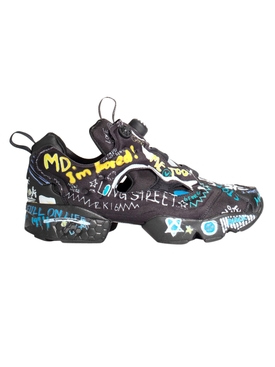 Instapump graffiti sneakers BLACK SCRIBBLE