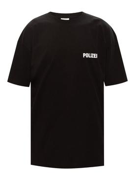 Contrast logo t-shirt BLACK