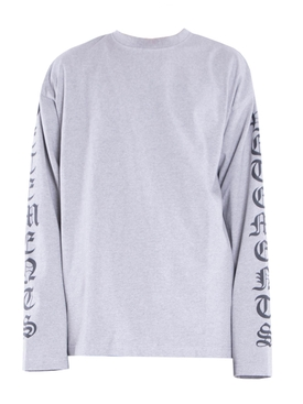 GOTHIC FONT LONG SLEEVE T-SHIRT GREY