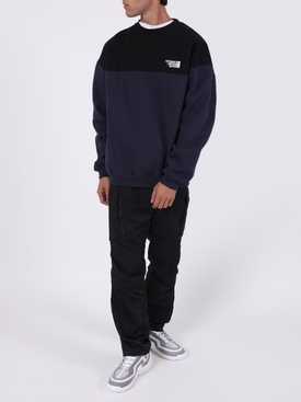 Cut Up Logo sweater BLACK BLUE