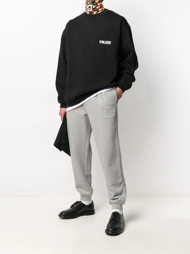Polizei crewneck sweater BLACK