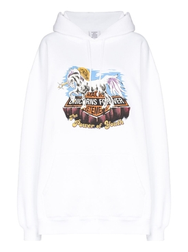 MAGIC UNICORN HOODIE WHITE