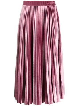 Soft Pink Pleated Midi Skirt